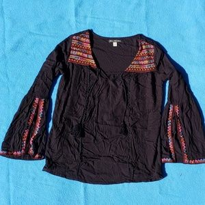 Billabong Embroidered Peasant Top